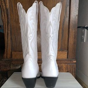 White Dan Post Boots